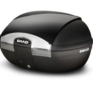 baul para moto shad con capacidad de dos cascos