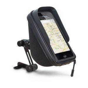 Soporte para Smartphone en moto con cogida a retrovisor