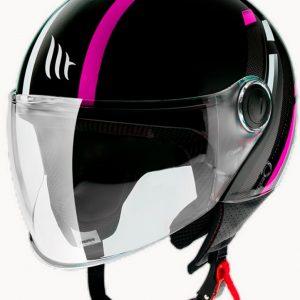 Casco Jet Mt Street Scope D8 en color rosa. Descubre este fabuloso casco tipo jet en color rosa de la excelente marca MT. Motozona Aljarafe.